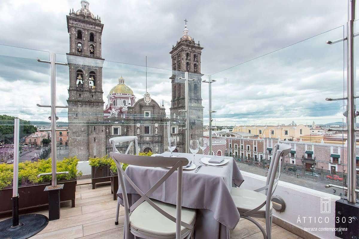 Attico 303 Restaurante Terraza Centro Historico Puebla