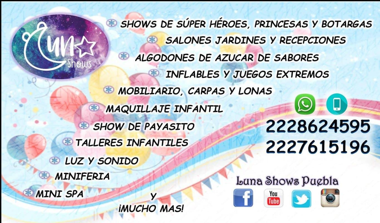 Luna Shows Puebla: Entretenimiento para Eventos Infantiles